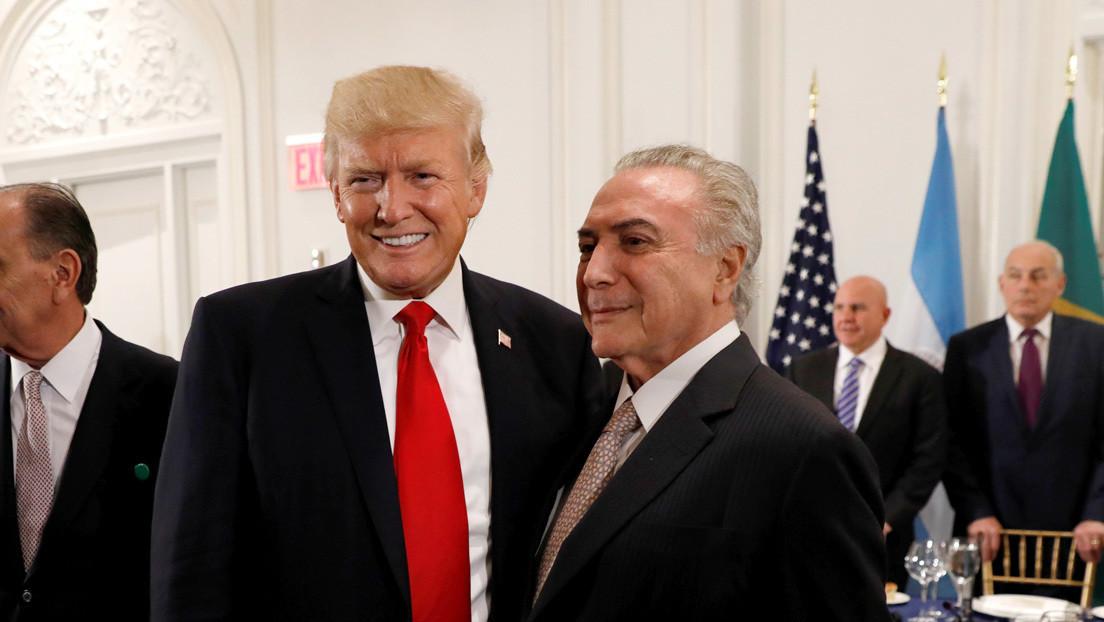 Temer confiesa que en una cena Trump le preguntó cómo intervenir a Venezuela