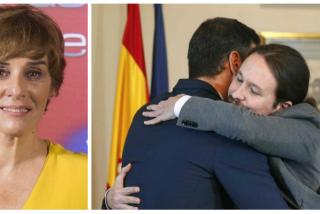 """Los tuiteros salen en masa contra Anabel Alonso por celebrar como una posesa el pacto Sánchez-Iglesias: """"Enseña ese tuit dentro de dos años en el paro"""""""