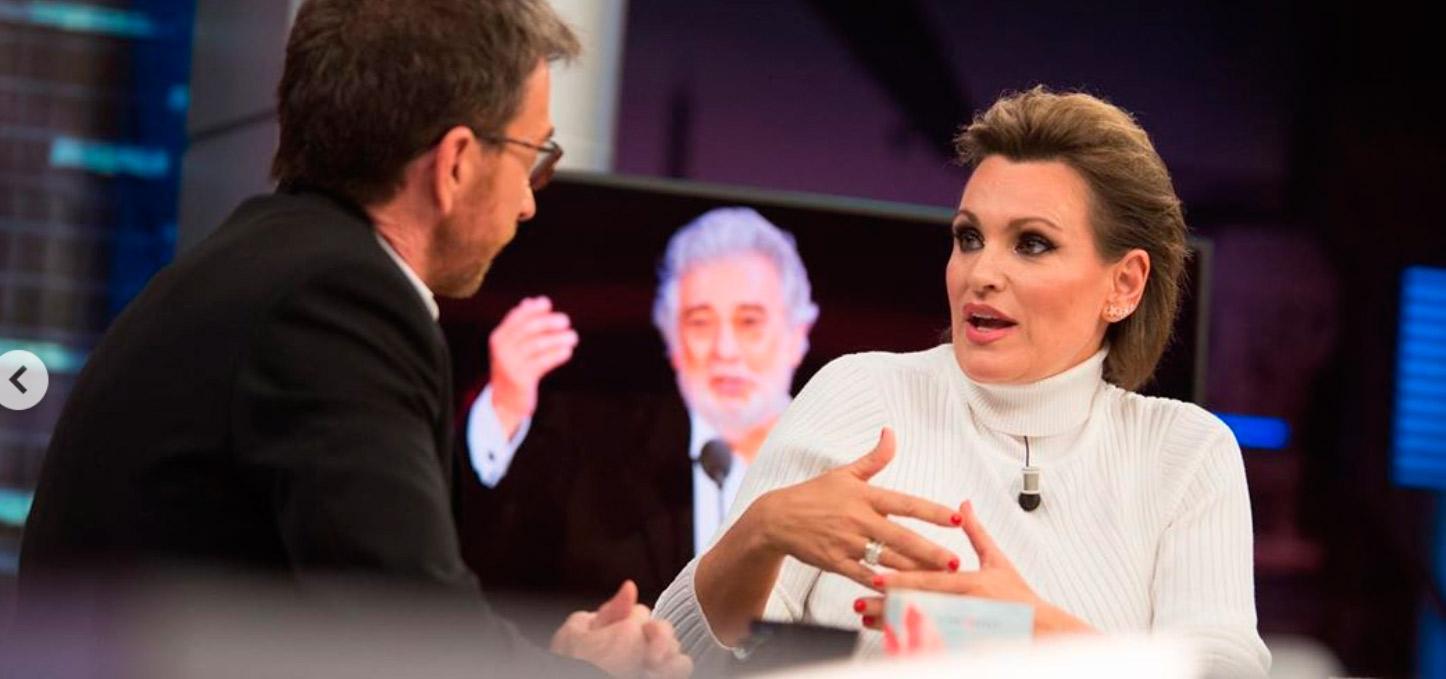 La tajante respuesta de Ainhoa Arteta a la pregunta de Pablo Motos sobre las acusaciones a Plácido Domingo de presuntos abusos sexuales