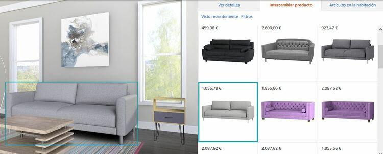 decorador virtual Amazon showroom