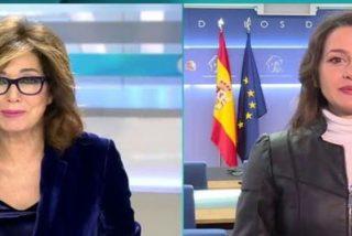 Inés Arrimadas comete ante Ana Rosa Quintana el peor 'pecado mortal' de la la tele