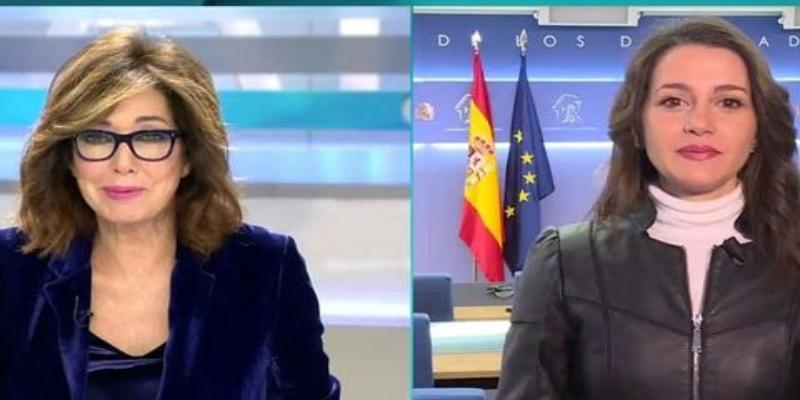 Inés Arrimadas comete ante Ana Rosa Quintana el peor 'pecado mortal' de la tele