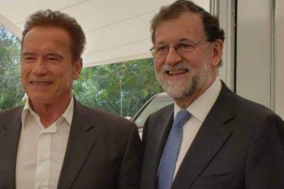'Sayonara baby': Mariano Rajoy reaparece en México con Arnold Schwarzenegger