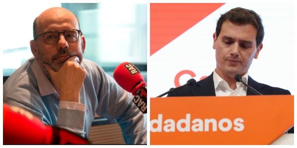 """La radio separatista de Godó celebra la caída de Albert Rivera: """"La bestia madrileña le ha empujado para que se pegue la hostia"""""""