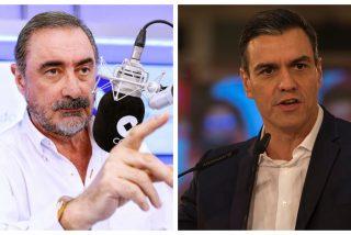 Escuche cómo Carlos Herrera destapa la patraña ideada por 'cum fraude' Sánchez