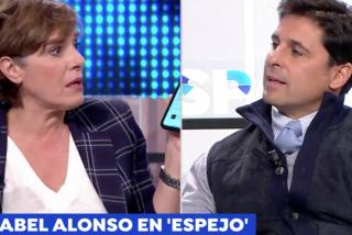 La deplorable actriz Anabel Alonso encuentra cobijo en 'Espejo Público' y se abalanza como una posesa sobre Fran Rivera