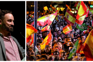 """Euforia desbordante en la sede de Vox con Manolo Escobar amenizando la fiesta: """"¡Qué viva España!"""""""