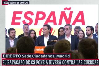 """Albert Rivera se niega a dimitir tras su histórico batacazo: """"Dejo en manos de la Ejecutiva mi liderazgo"""""""