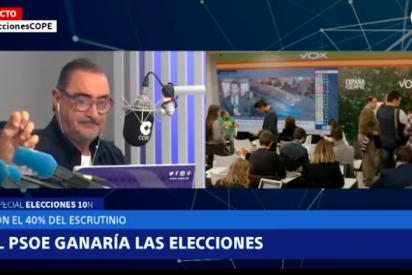 La verdadera bomba de la noche electoral fue en la radio: espantada de Carlos Herrera en pleno directo en COPE