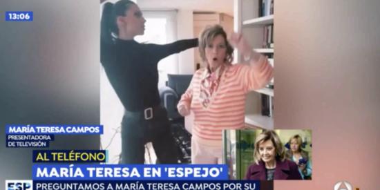 María Teresa Campos, más desatada que nunca, se arranca a cantar un reggaeton en directo en Antena3