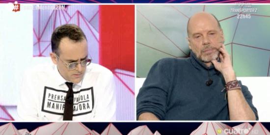Espectacular estallido de Jaime González contra Risto Mejide en las entrañas mismas de su 'programa fake'