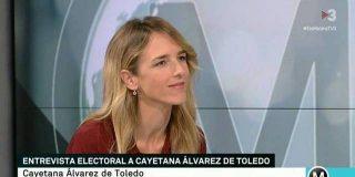 Cayetana Álvarez de Toledo responde a los de TV3 recordando su inmundicia y los 'indepes' pasan ipso facto a entrevistarla en castellano