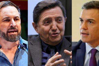 Losantos estalla harto de la propaganda sanchista y de los 'payasos' que demonizan a Abascal