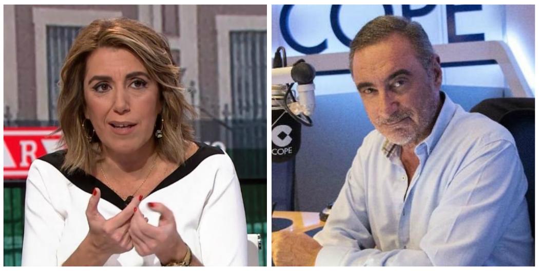 Carlos Herrera le pega un meneo a Susana Díaz por esconderse en medios afines para hablar de los ERE y por ir ahora de amiga de su odiado Sánchez