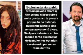"""Valeria Quer a Pablo Iglesias: """"Payaso, no te gustaría que le pasara a tu hija, querrías venganza"""""""