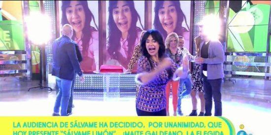 """'Sálvame' convierte en presentadora a Maite Galdeano y Kiko Matamoros huye del plató """"¡No me trates como a un perro!"""""""