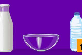 Separar leche y agua en el mismo recipiente: un reto que sólo superarás si eres muy listo