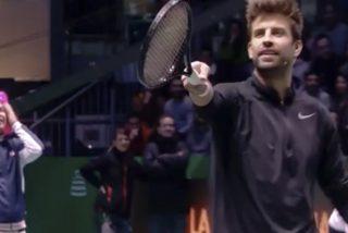 El troleo de Arturo Valls a Piqué con su mujer en medio del partido de tenis de 'La Resistencia'