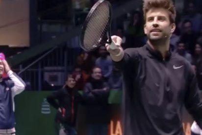 El troleo de Arturo Valls a Piqué sobre su mujer en medio del partido de tenis para promocionar la Davis