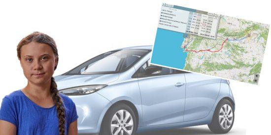 El 'calvario' que espera a la ecologista Greta Thunberg en su viaje Lisboa a Madrid, por culpa del coche del socialista Fernández Vara