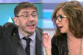 """Ana Rosa apalea al chekista Juan Carlos Monedero: """"Dejad de prohibir, dejad de controlar la vida de los ciudadanos"""""""