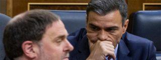 """Sánchez se queda en fuera de juego frente al chantaje del golpista Junqueras: """"Si no hay una mesa de negociación entre gobiernos, votaremos no"""""""