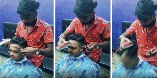 Vídeo viral: Por esto no debes estornudar nunca mientras el barbero te pasa la maquinilla…