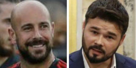 """Pepe Reina sacude un zasca al rufián Rufián: """"Ay ay ay Gabriel... que hay que dar ejemplo hombre..."""""""