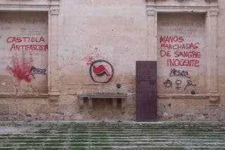 Llenan de pintadas el antiguo convento de San Agustín en Segovia