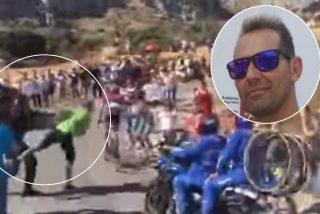 Este es Diego, el fan que animaba a Contador y 'voló' por el empujón de un guardia civil: multado con 3.600€