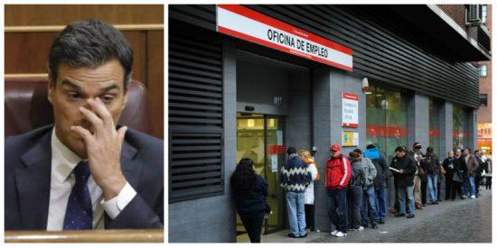¡Por esto quiso Sánchez adelantar un día el debate electoral! Desde que 'cum fraude' gobierna se destruye empleo a manta en España