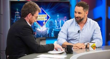 La entrevista a Santiago Abascal en 'El Hormiguero', lo más visto de la televisión en octubre