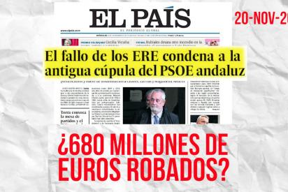 Periodista Digital desmonta el doble rasero de 'El País': de apuntar a Rajoy con la Gürtel a blanquear la gran estafa de los ERE