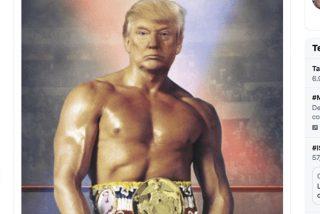 Trump 'se disfraza' de Rocky Balboa y arrasa en Twitter