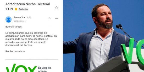 VOX se harta y veta por manipuladores a 'El País', Cadena SER y 'El Español' de Pedrojota