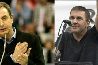El inefable Zapatero alaba al etarra Otegui e insta a negociar con el gran secuestrador de una banda que asesinó a 1.000 españoles