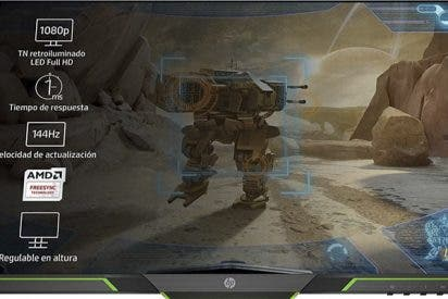 ¡Atención gamers!: La HP 25x - Monitor Gaming de 24.5'' Full HD es vuestra pantalla