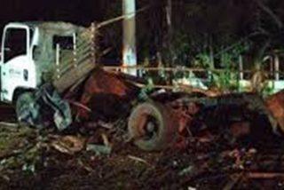 Así fue el terrible ataque con un camión bomba contra estación de la Policía Nacional en Colombia