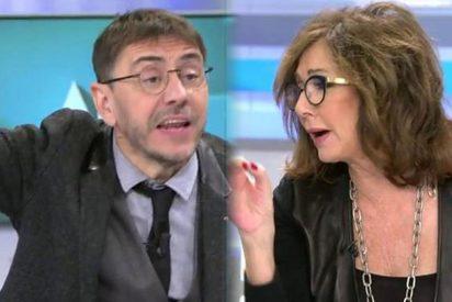 Monedero usa Telecinco para vejar a Carlos Herrera y Ana Rosa Quintana estalla y le da un corte salvaje