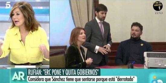 """Estelar enfado de Ana Rosa por la incompetencia de los políticos: """"¡No somos idiotas! ¿Dónde está la responsabilidad de los partidos?"""""""
