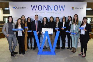 CaixaBank y Microsoft galardonan a las mejores alumnas de grados universitarios técnicos en la segunda edición de los Premios WONNOW