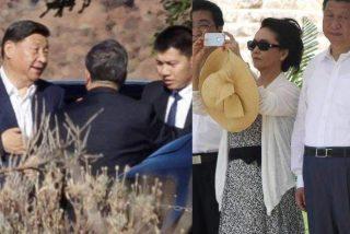El presidente chino Mister Xi Jinping, y su esposa, agasajados en Canarias con todos los honores