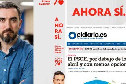 """La 'jeta' de Escolar: pide más dinero a sus lectores """"para fiscalizar al poder"""" con un anuncio publicitario enorme del presidente Pedro Sánchez"""