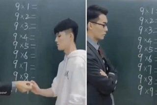 Vídeo Viral: Este alumno deja en ridículo a su profesor con una increíble técnica para resolver la tabla del 9