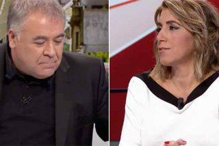 """Brutal paliza a Ferreras por el masaje épico a Susana Díaz: """"Solo la invita para hacer campaña o para lavarle la cara"""""""