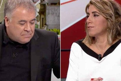 """Brutal paliza a Ferreras por el masaje con 'final feliz' a Susana Díaz: """"Solo la invita para lavarle la cara"""""""