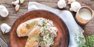 Filetes de pavo en salsa de champiñones