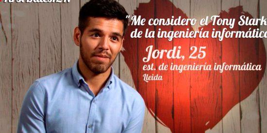 Jordi, el pretencioso y despistado estudiante de 25 años de First Dates que parece no 'tener abuela'