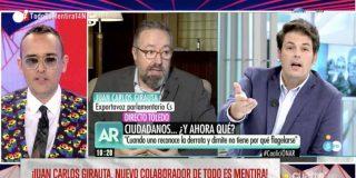 Giro de guion en Mediaset: Girauta se rebota de lo lindo con la pregunta de un periodista en Telecinco... ¡y firma como colaborador estrella de Risto!