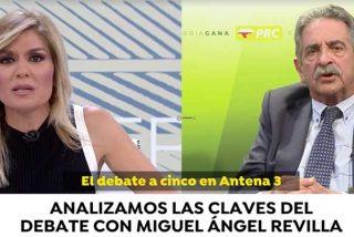 Revilla fuerza un monumental mosqueo con Sandra Golpe por dar por hecho que él llevaría la bufanda de Pedro Sánchez en el debate